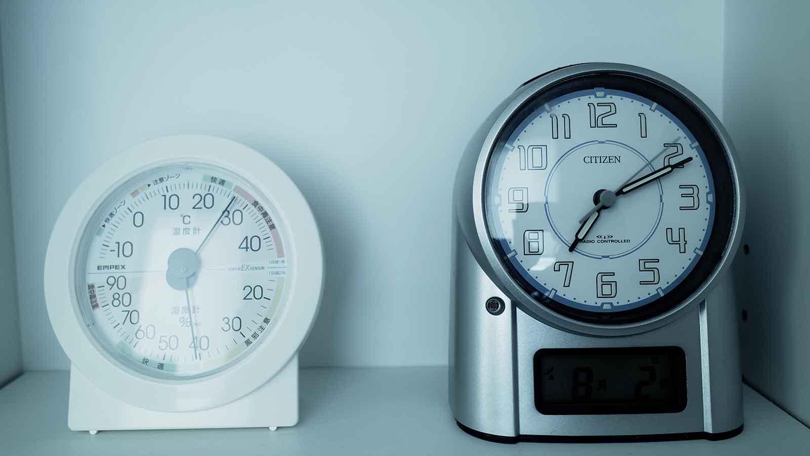 エアコンを開始後の朝の温度
