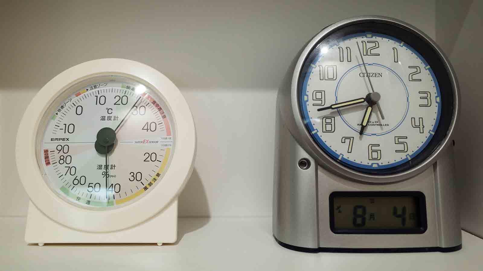 エアコン開始後の温度・湿度